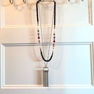 Stella & Dot Genevieve 2-in-1 Tassel Necklace